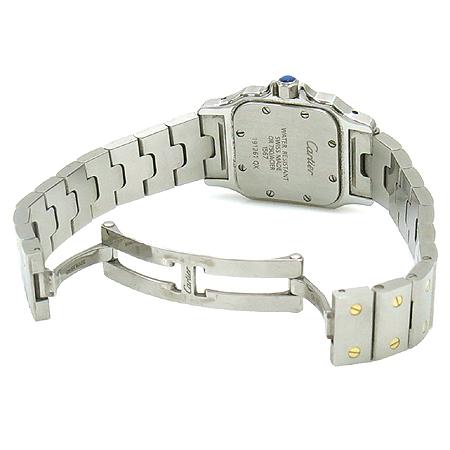 Cartier(까르띠에) W20012C4 산토스 S 사이즈 18K 콤비 여성용 시계