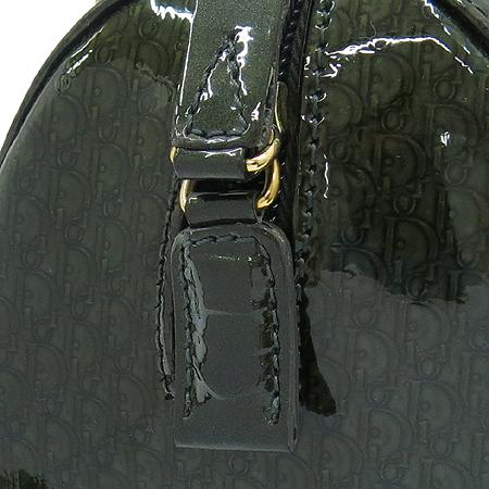 Dior(크리스챤디올) 금장 로고 장식 로고 패턴 페이던트 미니 토트백