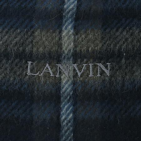 LANVIN(랑방) 100% 캐시미어 체크 머플러 이미지3 - 고이비토 중고명품