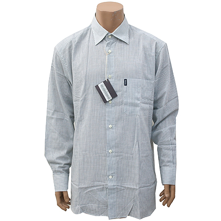 Zegna(제냐) 블루컬러 체크 셔츠