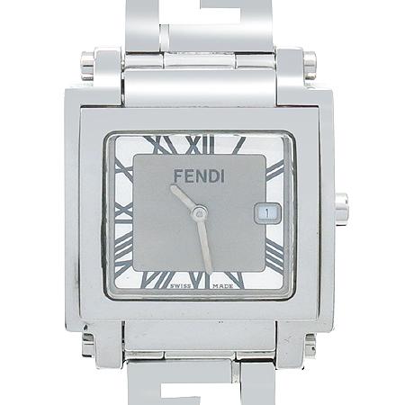 Fendi(펜디) 6000G F605140 콰드로 FF로고 사각 프레임 스틸 남성용 시계  [인천점]