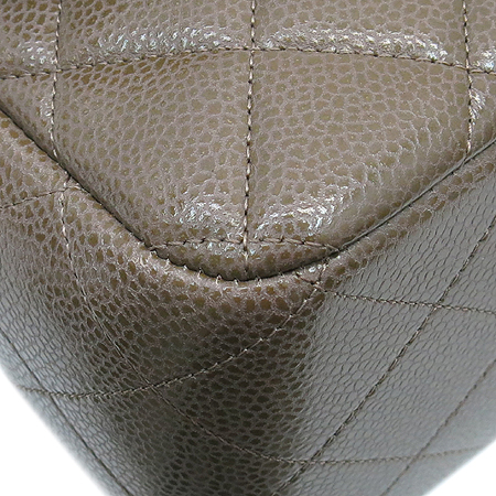 Chanel(샤넬) A28600 캐비어스킨 쵸코브라운 클래식 점보 L사이즈 은장로고 체인 숄더백 [동대문점] 이미지6 - 고이비토 중고명품