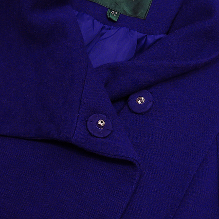 BENETTON(베네통) 퍼플컬러 코트 (허리끈set)