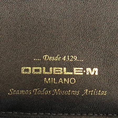 DOUBLE M(더블엠) 이니셜 페이던트 레더 중지갑 이미지6 - 고이비토 중고명품