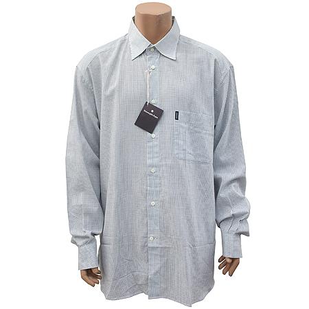 Zegna(제냐) 네이비컬러 체크 셔츠