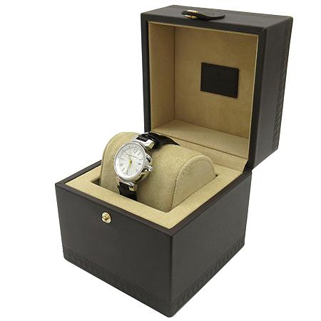 Louis Vuitton(루이비통) Q121K 모노그램 다이얼 땅부르 베르니 가죽 밴드 여성용 쿼츠 시계 이미지2 - 고이비토 중고명품