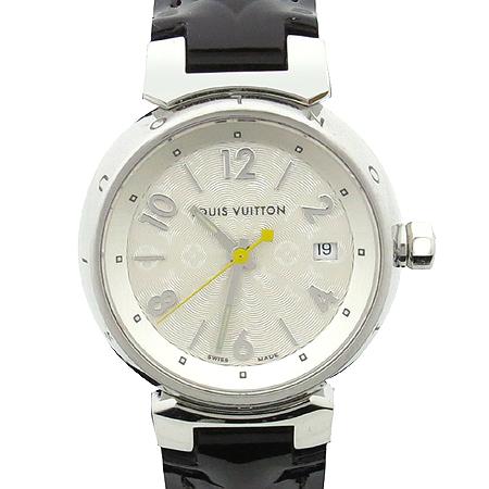 Louis Vuitton(루이비통) Q121K 모노그램 다이얼 땅부르 베르니 가죽 밴드 여성용 쿼츠 시계 이미지3 - 고이비토 중고명품