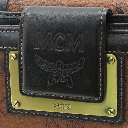 MCM(엠씨엠) 1033085011122 비세토스 브라운레더 금장로고 2단 반지갑