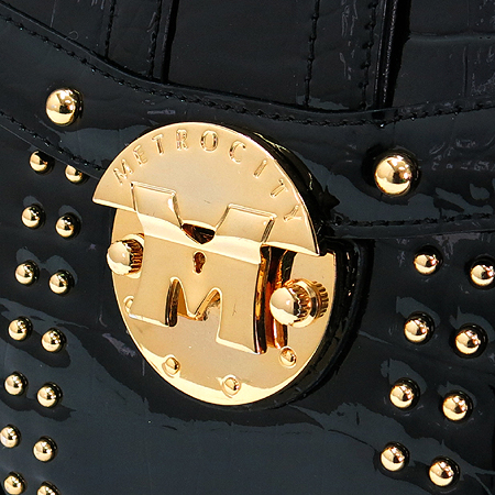 Metrocity(메트로시티) 금장 로고 장식 토트백