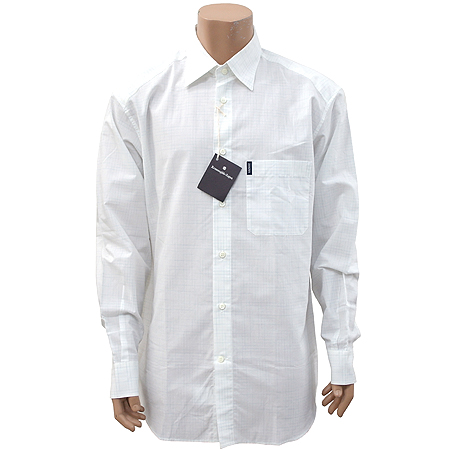 Zegna(제냐) 화이트컬러 블록 스트라이프 셔츠