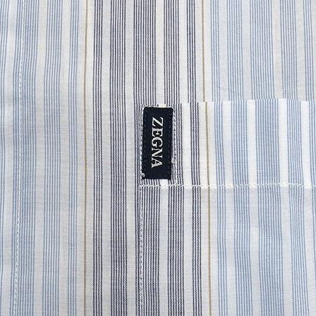 Zegna(제냐) 블루컬러 스트라이프 셔츠 이미지3 - 고이비토 중고명품