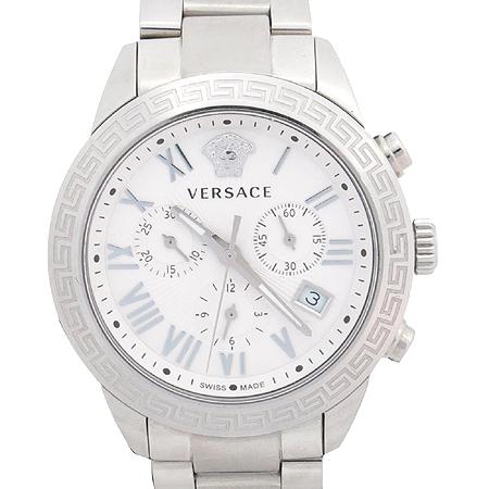 Versace(베르사체) P6C99GD002 크로노 그래프 스틸 쿼츠 남성용 시계