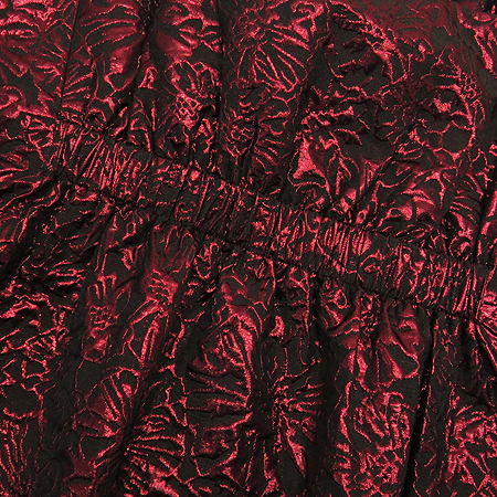 DKNY(도나카란) 메탈릭 와인컬러 나시 원피스