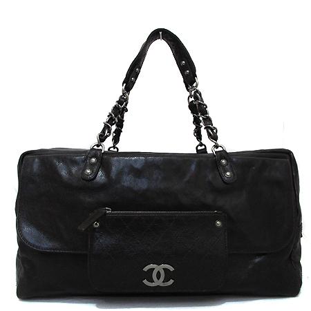 Chanel(샤넬) COCO로고 캐비어 정방 은장 체인 숄더백 [부천 현대점] 이미지2 - 고이비토 중고명품