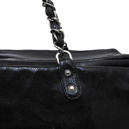 Chanel(샤넬) COCO로고 캐비어 정방 은장 체인 숄더백 [부천 현대점] 이미지5 - 고이비토 중고명품