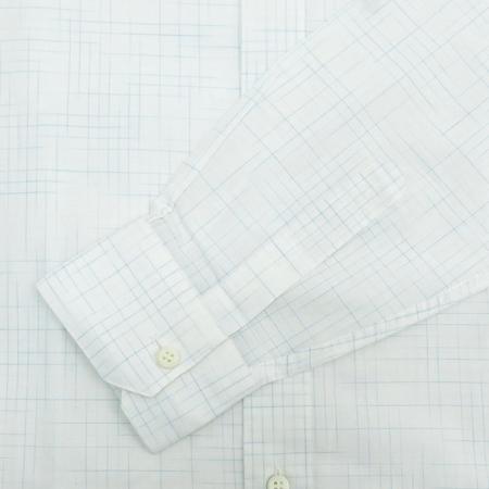 Zegna(제냐) 화이트컬러 체크패턴 셔츠