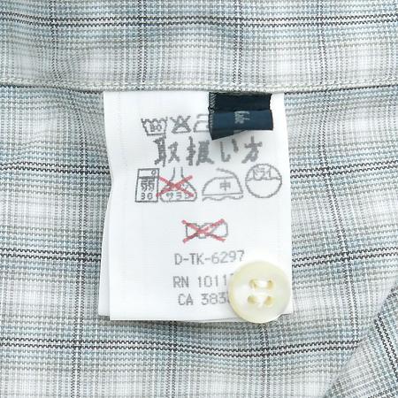 Zegna(제냐) 라이트그레이컬러 체크패턴 셔츠