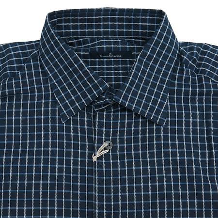 Zegna(제냐) 다크네이비컬러 체크패턴 셔츠 [동대문점]