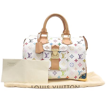 Louis Vuitton(루이비통) M92643 모노그램 멀티 화이트 스피디30 토트백 [강남본점]