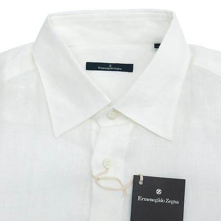 Zegna(제냐) 화이트컬러 린넨 셔츠 이미지2 - 고이비토 중고명품
