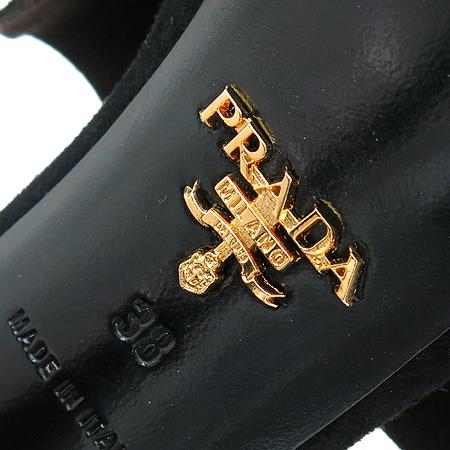 Prada(프라다) 블랙 스웨이드 하이힐 여성용 구두