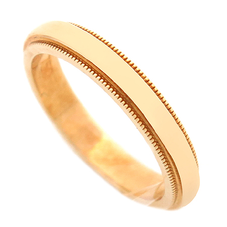 Tiffany(티파니) 18K 옐로우 골드 밀그레인 3MM 반지 - 7.5호