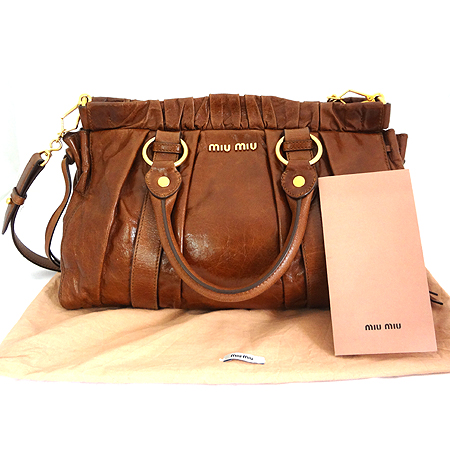 MiuMiu(�̿�̿�) RT0383 VITERLLO LUX ���� ��Ŭ ���� 2WAY [�ϻ����]