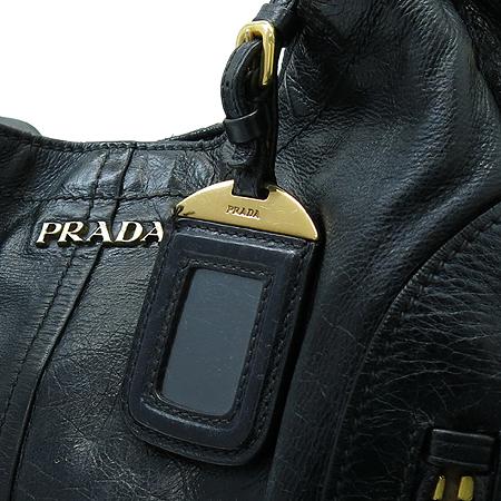 Prada(프라다) BR4216 네이비 VITELLO(비텔로) SHINE(샤인) 레더 호보 숄더백