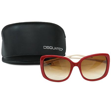 DSQUARED2 (디스퀘어드2) DQ0034 레드 아이보리 뿔테 선글라스