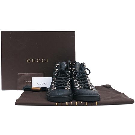 Gucci(구찌) 245306  블랙 시마 레더 여성용 하이탑 스니커즈