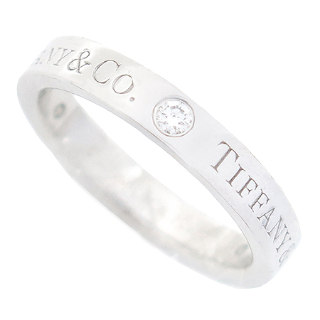 Tiffany(티파니) PT950(플레티늄) 3포인트 다이아 Tiffany&Co BAND(밴드) 반지