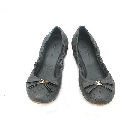 Louis Vuitton(루이비통) 835990 마히나 레더 리본 장식 여성용 플랫 슈즈