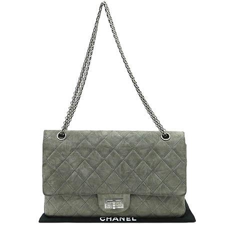 Chanel(샤넬) 2.55 스웨이드 L(라지) 사이즈 은장 체인 숄더백 [부산본점]