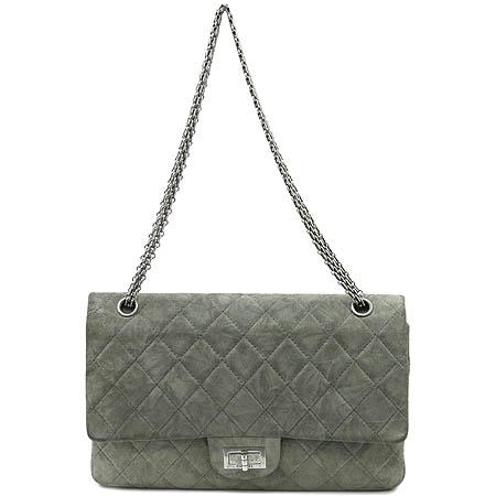 Chanel(샤넬) 2.55 스웨이드 L(라지) 사이즈 은장 체인 숄더백 [부산센텀본점]