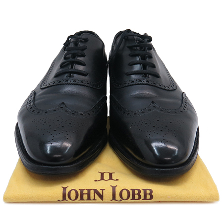 John lobb(존롭) 윙팁 블랙 레더 남성 구두