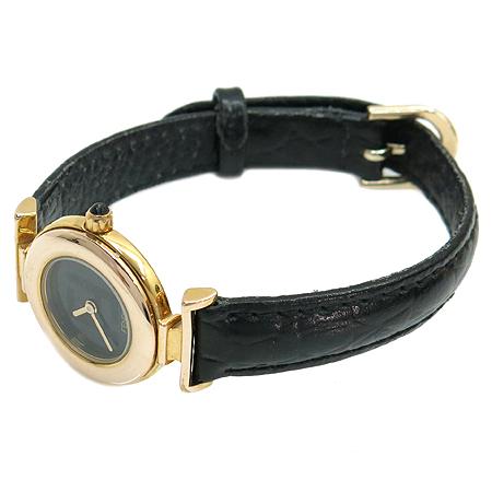 Fendi(펜디) 082 320L 208 금장 라운드 블랙레더 밴드 여성용 시계