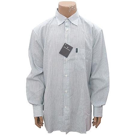 Zegna(제냐) 연 그레이컬러 블럭 스트라이프패턴 셔츠