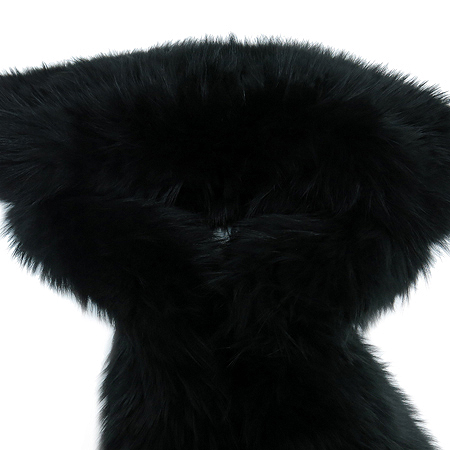 Ferragamo(페라가모) 블랙 FOX FUR 여우털 퍼