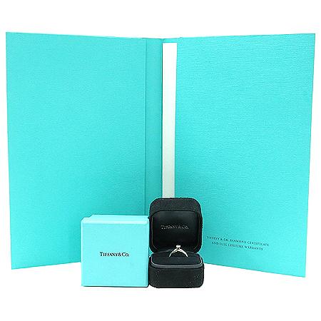 Tiffany(티파니) PT950(플래티늄) 0.26캐럿 I컬러 VS2 웨딩 반지-10호