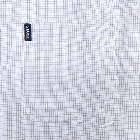 Zegna(제냐) 블럭 스트라이프 패턴 셔츠