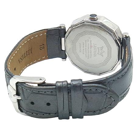 J.ESTINA(제이에스티나) 티아라 큐빅 장식 가죽 밴드 여성용 시계
