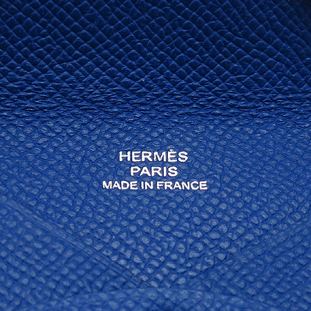 Hermes(에르메스) 블루 레더 명함 겸 카드지갑 [명동매장] 이미지4 - 고이비토 중고명품