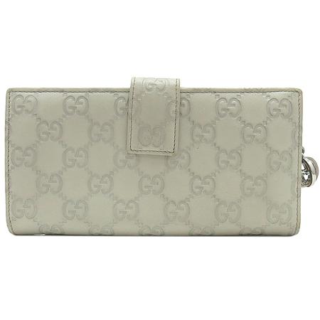 Gucci(구찌) 233024 은장 로고 장식 GG로고 시마 레더 장지갑