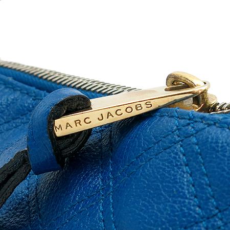 Marc_Jacobs(마크 제이콥스) 멀티 포켓 블루 레더 퀼팅 금장 체인 숄더백