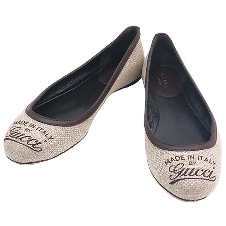 Gucci(구찌) 패브릭 GUCCI로고 플랫 슈즈
