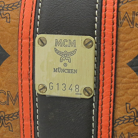 MCM(엠씨엠) 1011078020822 비세토스 금장 로고 보스톤 토트백