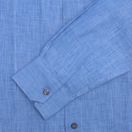 Zegna(제냐) 블루 마혼방 셔츠