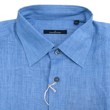Zegna(제냐) 블루 마혼방 셔츠 이미지2 - 고이비토 중고명품