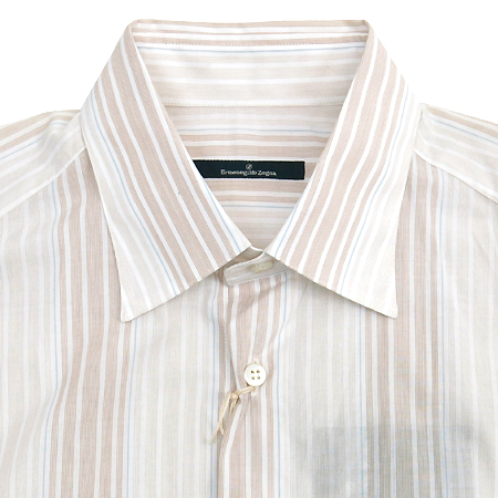 Zegna(제냐) 베이지컬러 스트라이프 셔츠