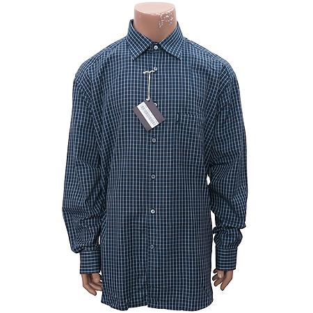 Zegna(제냐) 네이비컬러 블럭스트라이프 셔츠